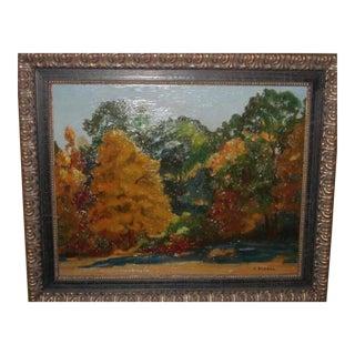 Janos Bednar French Impressionist Landscape Painting For Sale