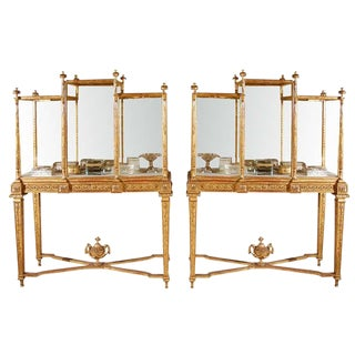 19th Century French Giltwood Vitrines - a Pair For Sale