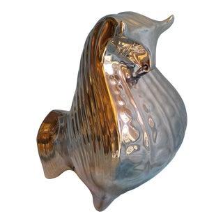 Jonathan Adler Platinum Glazed Ceramic Bull