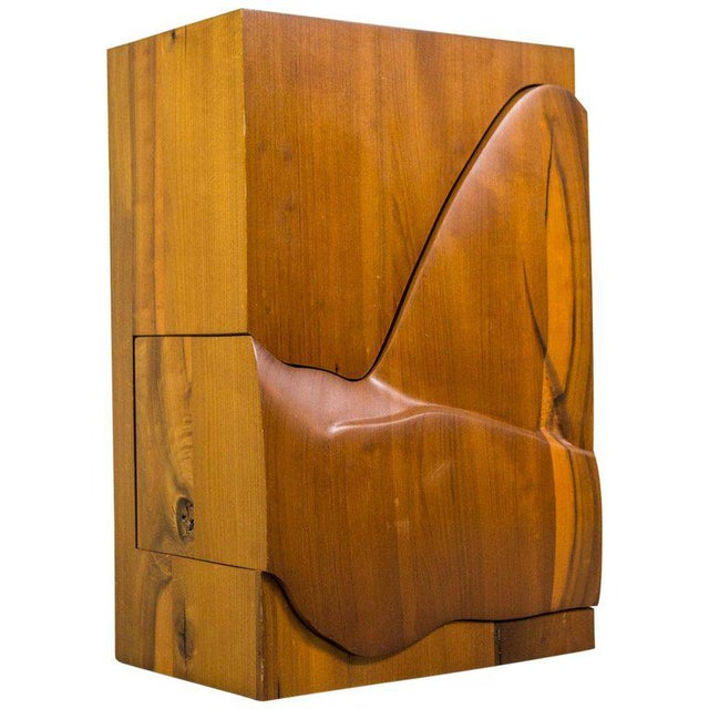 Tan Studio Furniture Wall Cabinet in Solid Walnut, 1970s, Us For Sale - Image 8 of 8