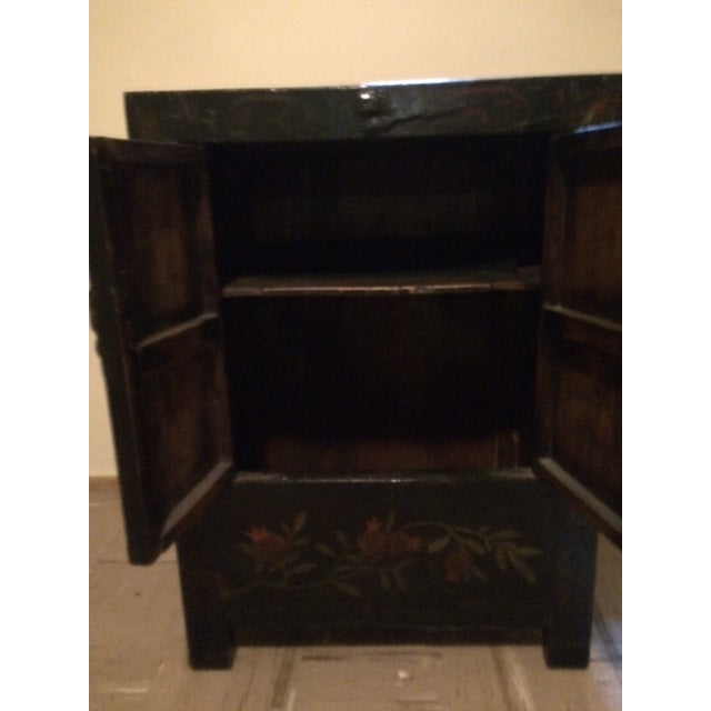 Asian Black Laquer Chest - Image 4 of 5