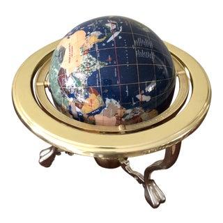 Lapis and Precious Stone Globe For Sale