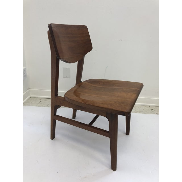 Vintage Mid Century Modern Wood Desk Chair by Gunlocke