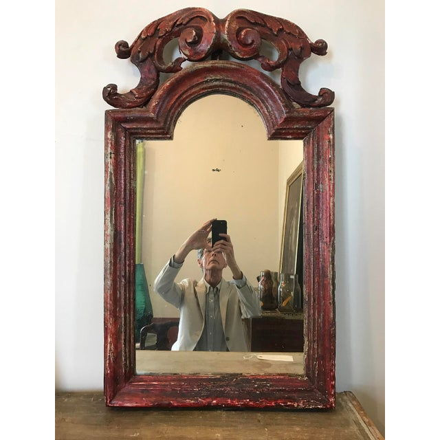Paint 19th c. Italian Mirror For Sale - Image 7 of 7