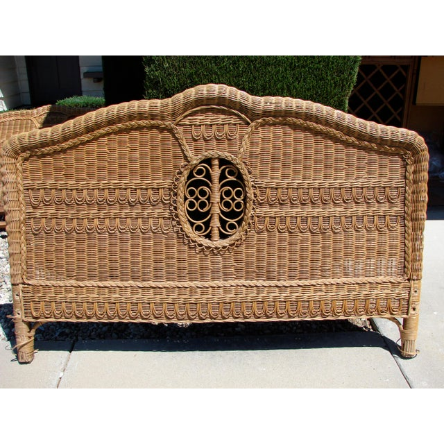 Ralph Lauren Ralph Lauren Wicker Bed For Sale - Image 4 of 7