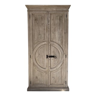 Reclaimed Lumber Circle Armoire For Sale