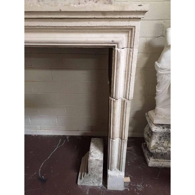 French Louis XIV Limestone Mantel with Trumeau, circa 1810 For Sale - Image 3 of 5