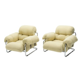 """1970s Italian """"Tucroma"""" Armchairs by Guido Faleschini for Mariani - a Pair For Sale"""