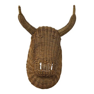 Rattan Bull Head For Sale