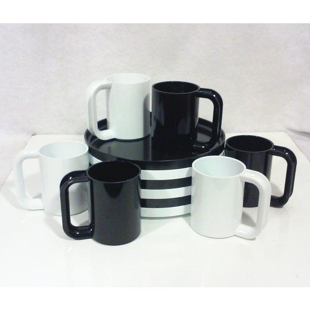 Black and White Melamine Dishes - Set of 12 - Image 2 of 5