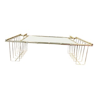 Vintage Brass Tabletop Tray Table For Sale