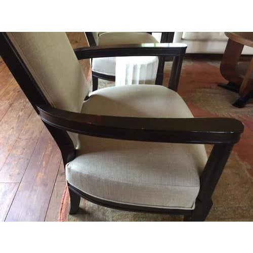 Fabulous vintage armchair from a French hotel, has been newly reupholstered. Would work great in a variety of contemporary...