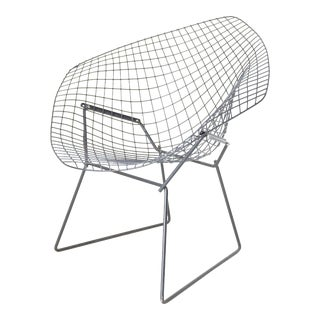 Harry Bertoia Diamond Wire Lounge Chair For Sale