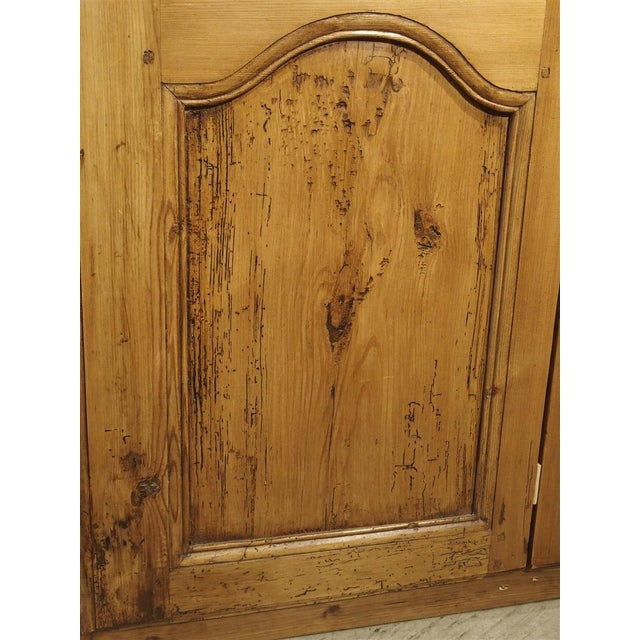 Pair of Antique French Pine Cabinet Doors, 19th Century For Sale - Image 10 of 11