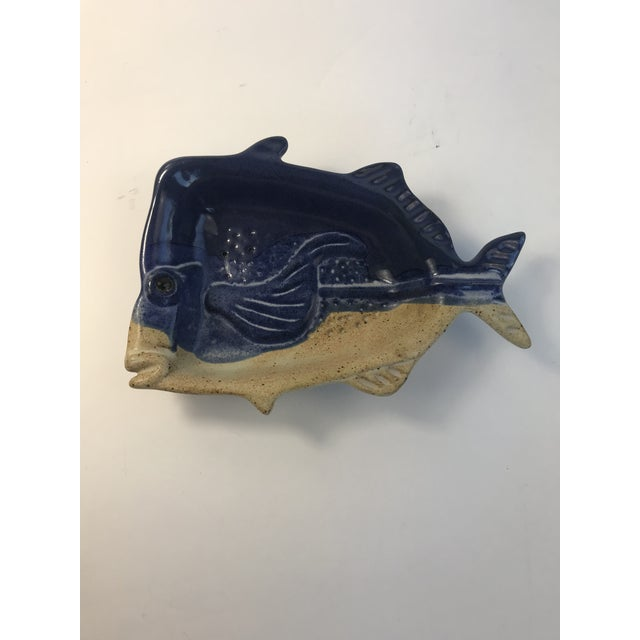 1970s Stoneware Fish Bowl Candy Dish For Sale - Image 5 of 5
