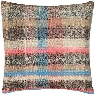 "1960s Turkish Hemp Pillow 16"" X 16"" For Sale"