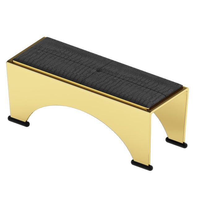 Troy Smith Designs Solid Bronze Bench by Artist Troy Smith - Limited Edition - Contemporary Design For Sale - Image 4 of 6