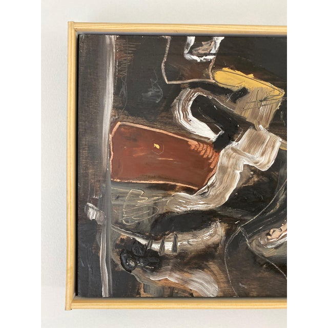 Contemporary Oil on Wood Abstract XIII by William McLure For Sale - Image 4 of 7