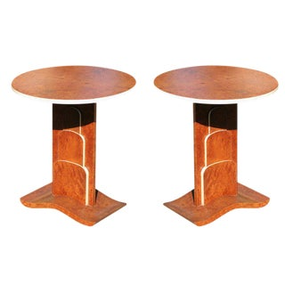 Art Deco Inspired Flip Table Pair in a Jacques Ruhlmann Manner For Sale