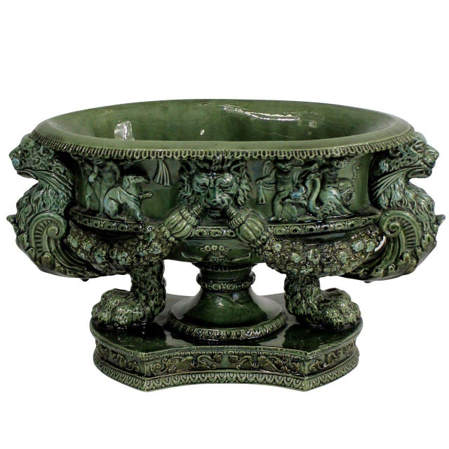 Neoclassical Neoclassical Tin Glazed Tazza For Sale - Image 3 of 3