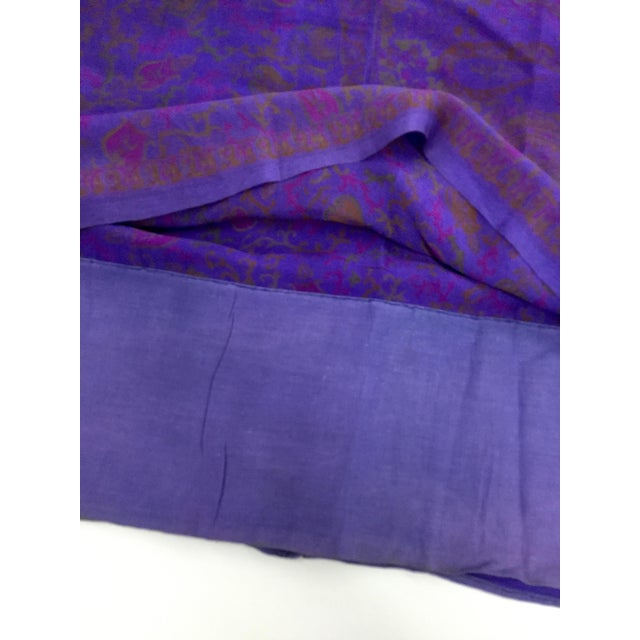 Antique Pure Silk Crepe De Chine Indian Sari For Sale In Portland, ME - Image 6 of 11