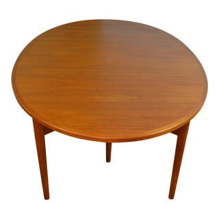Arne Vodder for Sibast Model 212 Danish Mid Century Modern Teak Extension Dining Table For Sale