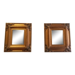 French Style Gilt Beveled Mirrors- a Pair For Sale