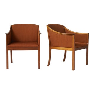 Pair of Lounge Chairs by Ole Wanscher For Sale