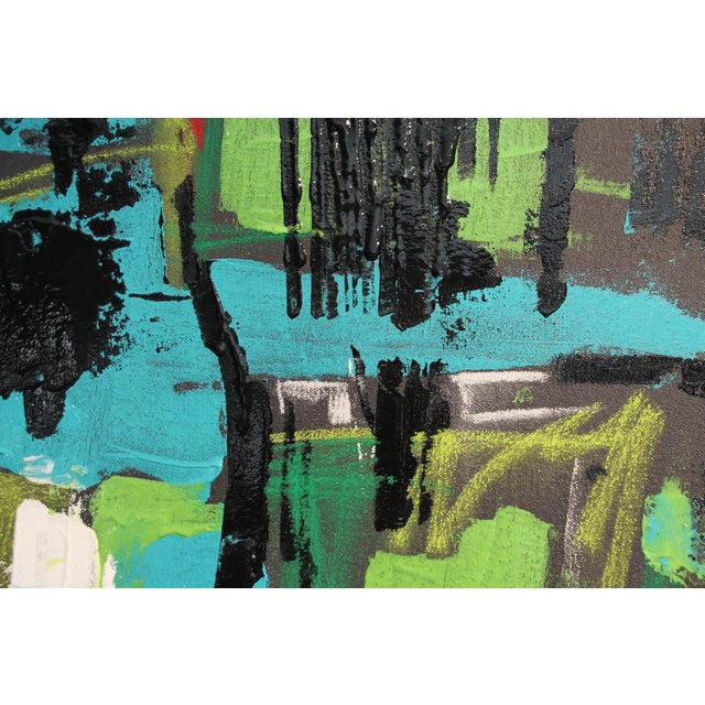 """Abstract 2017 """"BU 4"""" Abstract Acrylic Painting For Sale - Image 3 of 10"""