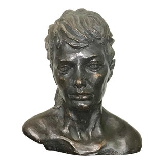 Thomas Holland Large Bronze Finish Woman's Bust Sculpture - 1966 Signed Original For Sale