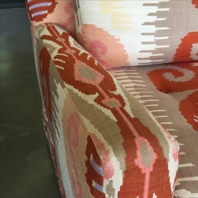Martin Brattrud Ikat Sofa For Sale - Image 8 of 9