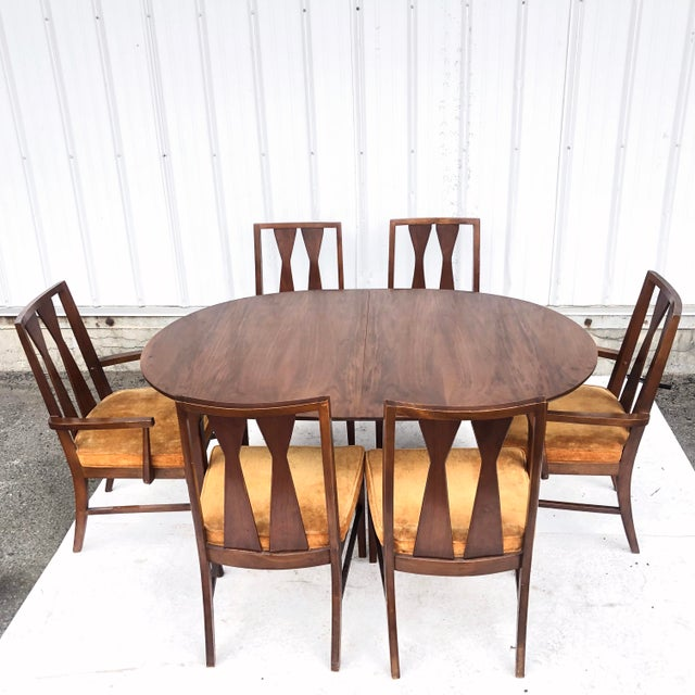 Mid-Century Dining Set With Large Table and Six Chairs For Sale - Image 13 of 13
