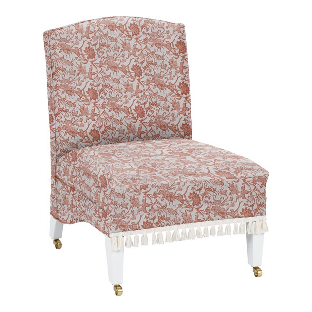 Not Yet Made - Made To Order LuRu Home for Casa Cosima Sintra Chair, Prussian Carp, Paprika For Sale - Image 5 of 5