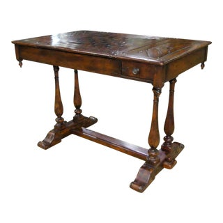 Traditional Theodore Alexander Castle Bromwich Mahogany Game Table For Sale