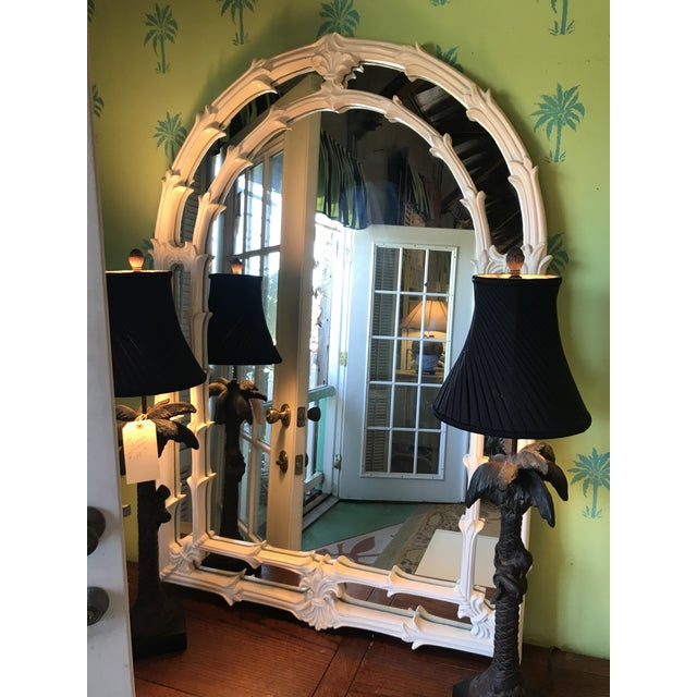 Vintage Coastal Regency Fleur De Lis Mirror For Sale - Image 11 of 12