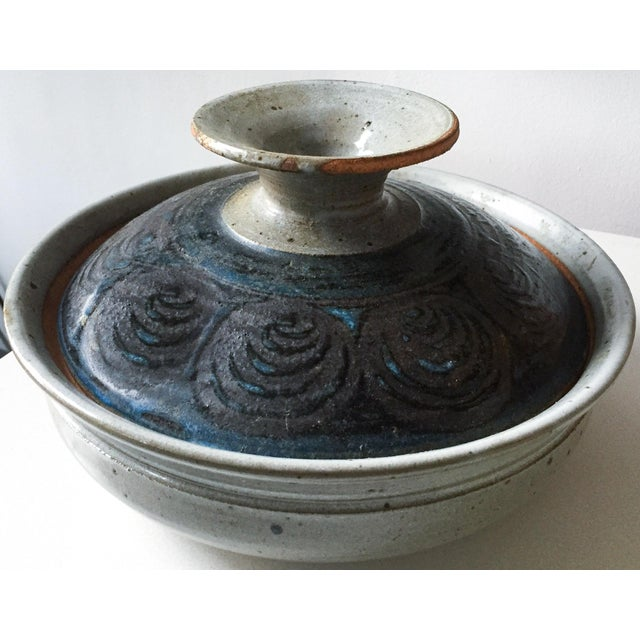 Signed Gerry Williams Mid-Century Stoneware Lidded Bowl - Image 2 of 7