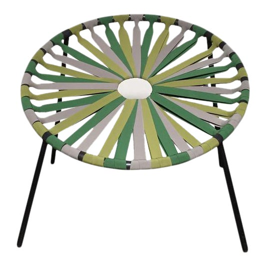 Modern Green Lastika Chair For Sale