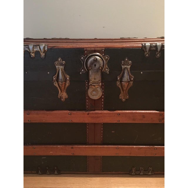 Antique English Steamer Trunk - Image 6 of 10