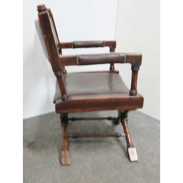Regency Mid Century Regency Directors Style Chairs- a Pair For Sale - Image 3 of 6