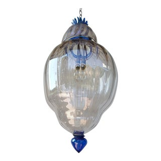 Large Art Deco Murano Glass Lantern For Sale