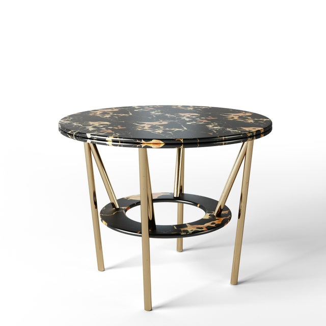 2010s 21st Century Custom Made Contemporary Around We Go Foyer Table For Sale - Image 5 of 7