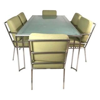 Vintage Brown Jordan Aluminum Dining Set- 7 Pieces For Sale