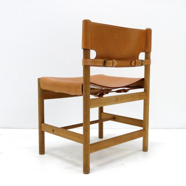 """Mid-Century Modern 1960s Vintage Børge Mogensen """"Hunting"""" Chairs- Set of 6 For Sale - Image 3 of 11"""