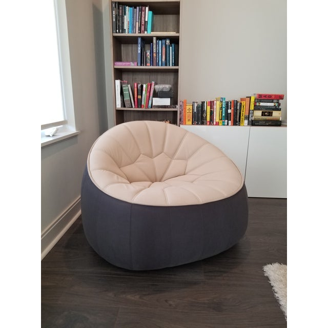 Contemporary Ligne Roset Ottoman Armchair For Sale - Image 3 of 7