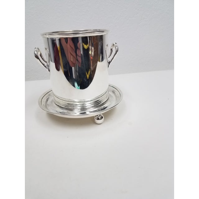 Antique English Silverplate Wine Holder For Sale - Image 10 of 10