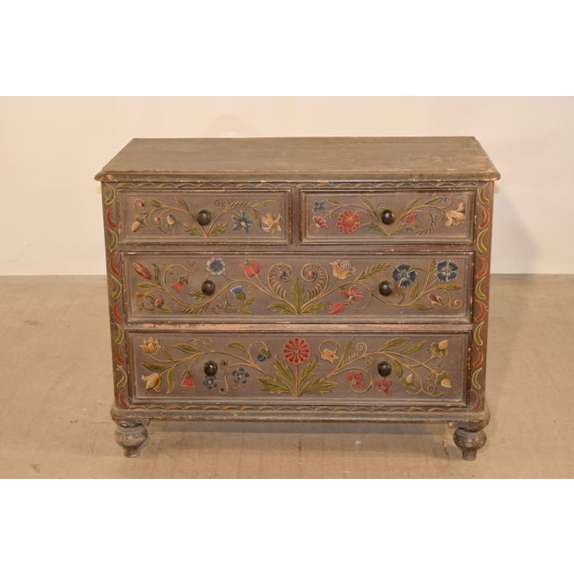 19th Century Painted Chest of Drawers For Sale - Image 4 of 10