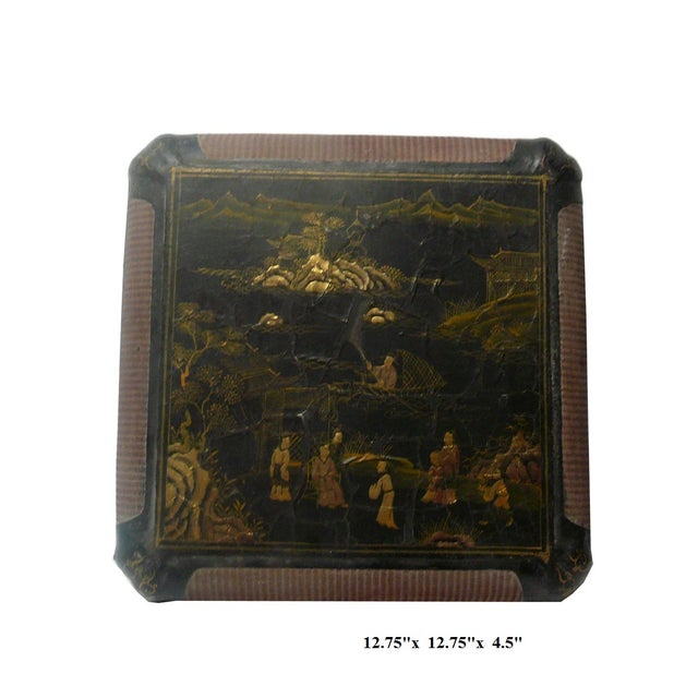 Vintage Chinese Rattan Lacquer Box - Image 2 of 6