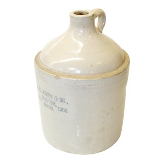Vintage Boston Stoneware Jug For Sale