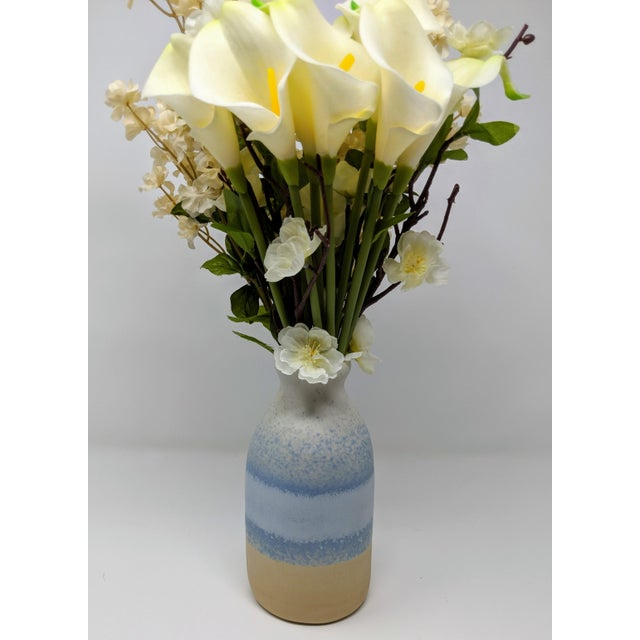 2010s Blue and White Gradient Vase For Sale - Image 5 of 12