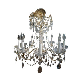 Mid 20th Century French Style 10 Light Chandelier For Sale